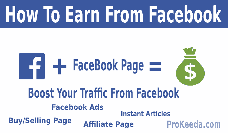 What is Facebook? how to earn money from the Facebook page, create and delete the page. selling product, instant articles, Earn money from the group.