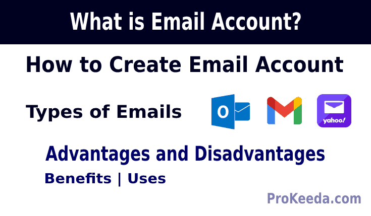 what is email how to create email its type  benefits advantages and disadvantages, uses 2021