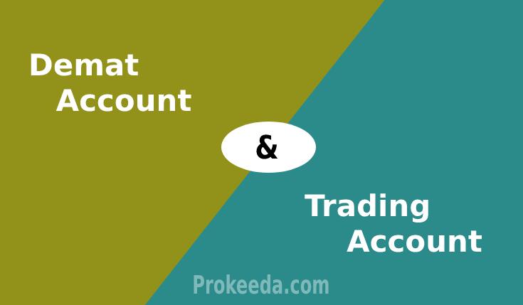 Trading account vs demat account. demat account and trading account. difference between trading and demat.